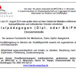 Stellenausschreibung: Fachstelle Mediation, Täter-Opfer-Ausgleich von Brücke e.V.