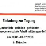 """""""männlich- weiblich- geflüchtet- Geschlechterbezogene soziale Arbeit mit jungen Geflüchteten"""": 30. Juni und 1. Juli"""